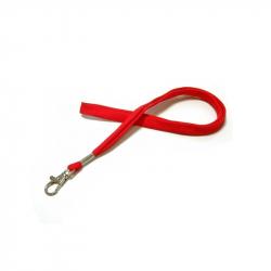 CUMF10-6 - Cordon tour de cou rouge mousqueton fermoir – Cardalis