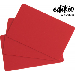 C4301 - Edikio cartes Rouges, 86x54mm, ép. 0,76mm, lot de 100