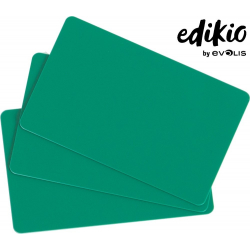 C4401 - Edikio cartes Vertes, 86x54mm, ép. 0.76mm, lot de 100