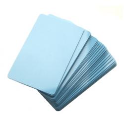 CTM-076-2 - Carte PVC bleu clair pour imprimantes à badges