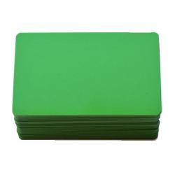 CTM-076-4 - Carte PVC colori vert pour création de badges - Cardalis