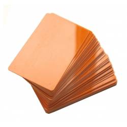 CTM-076-5 - Carte PVC orange pour imprimantes à badges - Cardalis