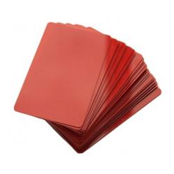 CTM-076-6 - Cartes PVC rouge pour imprimantes à badges - Cardalis