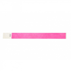 BRTYVEK19-11 Lot de 100 bracelets papier indéchirable Tyvek Rose