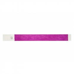 BRTYVEK19-12 Lot de 100 bracelets papier indéchirable Tyvek Violet