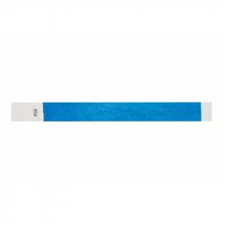 BRTYVEK19-1 Lot de 100 bracelets papier indéchirable Tyvek Bleu