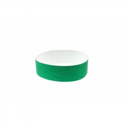 BRTYVEK19-4 Lot de 100 bracelets papier indéchirable Tyvek Vert