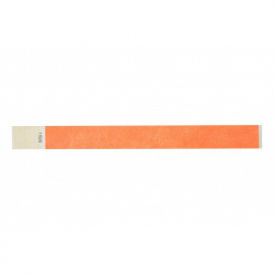 BRTYVEK19-5 Lot de 100 bracelets papier indéchirable Tyvek Orange