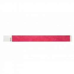 BRTYVEK25-6 Lot de 100 bracelets papier indéchirable Tyvek Rouge
