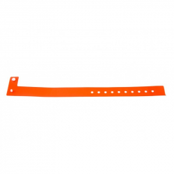 BRVINYLE-5 Lot 100 bracelets Vinyle type L, finition Mat - Orange