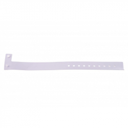 BRVINYLE-8 Lot 100 bracelets Vinyle type L, finition Mat - Blanc