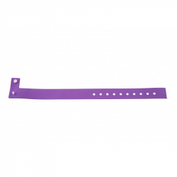 BRVINYLE-12 Lot 100 bracelets Vinyle type L, finition Mat - Violet