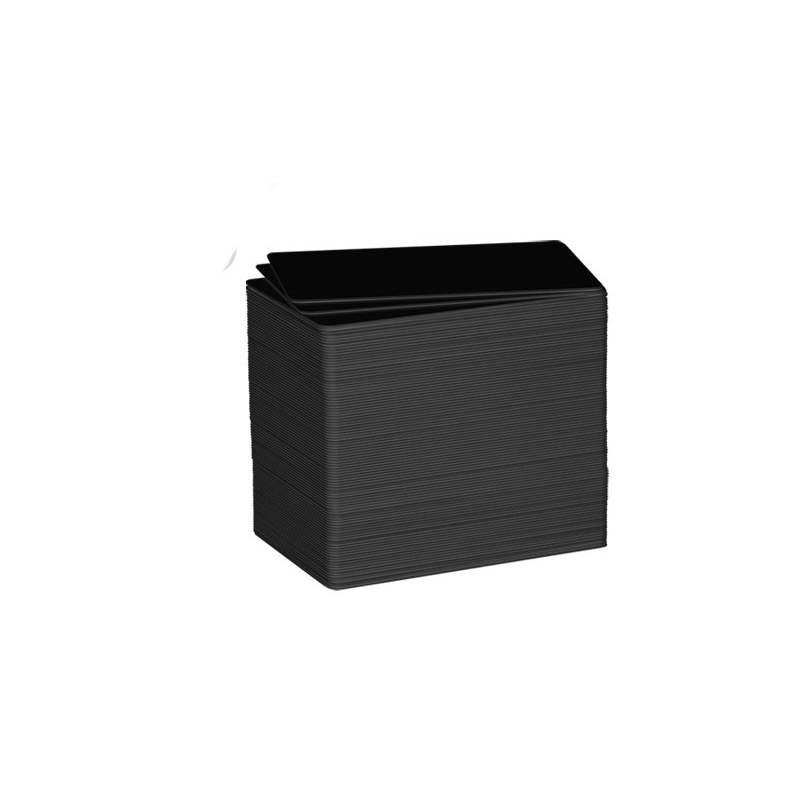 Cartes PVC imprimables Noires Mat - Evolis C8001