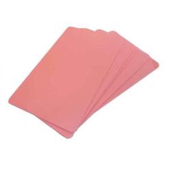 CTM-076-11 Cartes PVC format 86 x 54 mm teintées dans la masse, rose