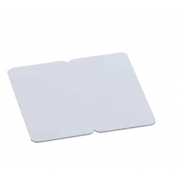 BICARTBLANC - Cartes PVC blanc sécables en 2, épaisseur 0,76mm