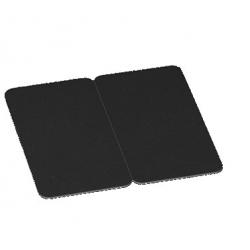 BICARTNOIR - Cartes PVC noir mat sécables en 2, épaisseur 0,76mm
