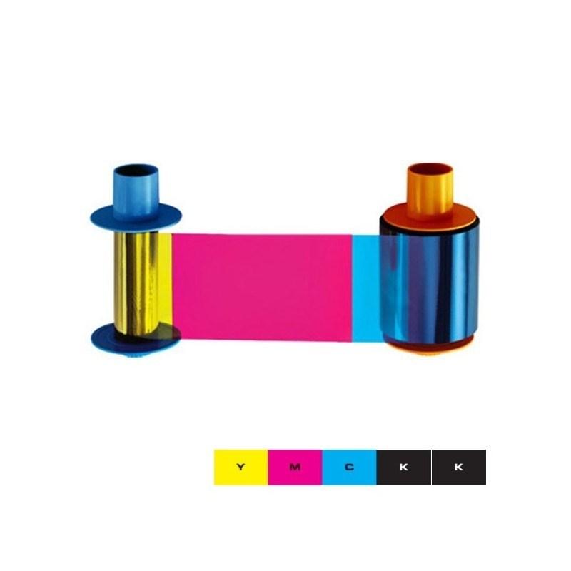 045611 Ruban couleur duplex YMCKOK pour DTC1500, 500 faces