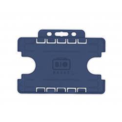 PBR1001D-BIO-H3 Porte badge BIO 2 cartes, horizontal, format 86x54mm, bleu foncé