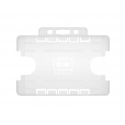 PBR1001D-BIO-H0 Porte badge BIO 2 cartes, horizontal, format 86x54mm, translucide