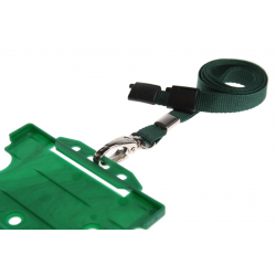 Cordon sécuritaire 10 mm, mousqueton Deluxe - VERT