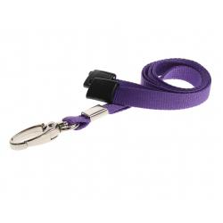 CUSL10-12 - Cordon sécuritaire 10 mm, mousqueton Deluxe – Violet