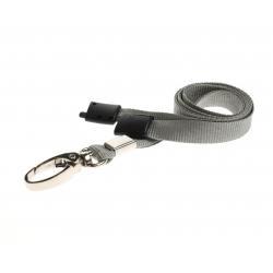 CUSL10-7 - Cordon sécuritaire 10 mm, mousqueton Deluxe – Gris