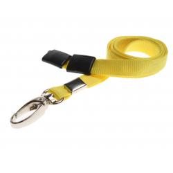 Cordon sécuritaire 10 mm, mousqueton Deluxe - JAUNE