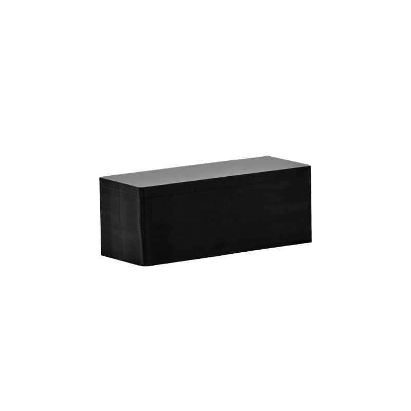 C8152 - Cartes PVC Evolis noir mat, format 50x150 mm - Cardalis
