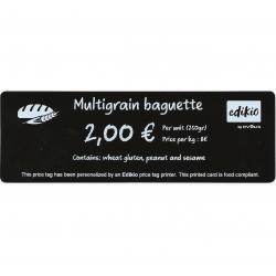 Cartes Noires Mat PVC 50x150 mm