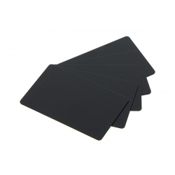C8182-100 - Cartes PVC Evolis noir mat, format 50x150 mm, lot de 100