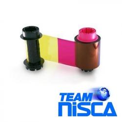 7710004NRB17 - Ruban couleur YMCK rentransfert Nisca PR-C201