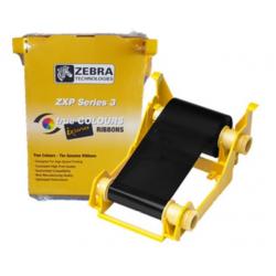 800033-301 - Ruban Zebra ZXP3 monochrome Noir, 2000 faces