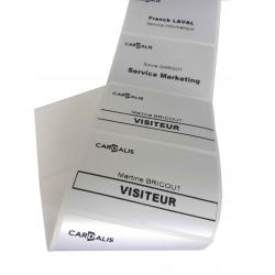 ET-01865425 - Etiquettes acetate de satin 86x54mm, mandrin 25,4mm