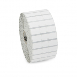 10010064 - Etiquettes bijouterie Zebra 8000D, 56mmx13mm, polypropylène Ø25mm boite de 6