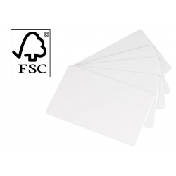 C2511 - Cartes Papier Evolis blanches, ép. 0.76mm, lot de 500 (5X100)