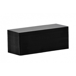 C8122 - Cartes PVC Evolis noir mat, format 50x120 mm - Cardalis