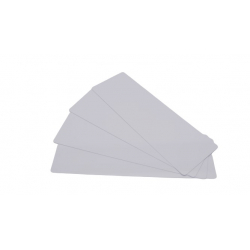 C4152-100 - Cartes longues blanches PVC brillant 50x150 mm, 0.50mm, lot de 100