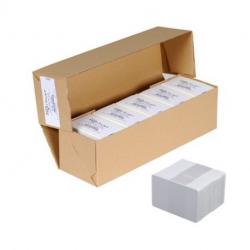 Cartes plastique Evolis, PVC épaisseur 0,5mm, lot de 500