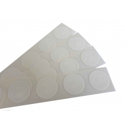 Etiquette NTAG213 blanche autocollante ronde - Cardalis