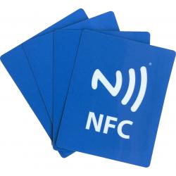 Etiquettes NFC Ntag 213 imprimées avec logo NFC, format 44x55 mm