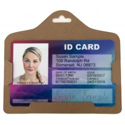 PBS009-H0 - Porte badge cartonné ECO, format horizontal, lot de 100