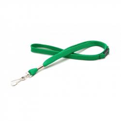 Cordon tour de cou sécuritaire vert CUMS10-4 avec mousqueton simplex - Cardalis