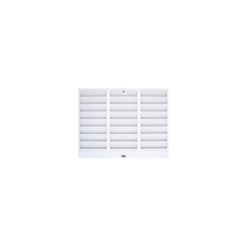 Casier mural pour 24 cartes blanc cartes et badges - Casier mural rangement ...