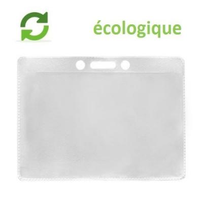 Porte Badge Souple Ecologique en Polypropylène, format standard horiz