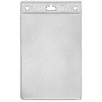Porte badge souple grand format 105 x 149 mm format vertical