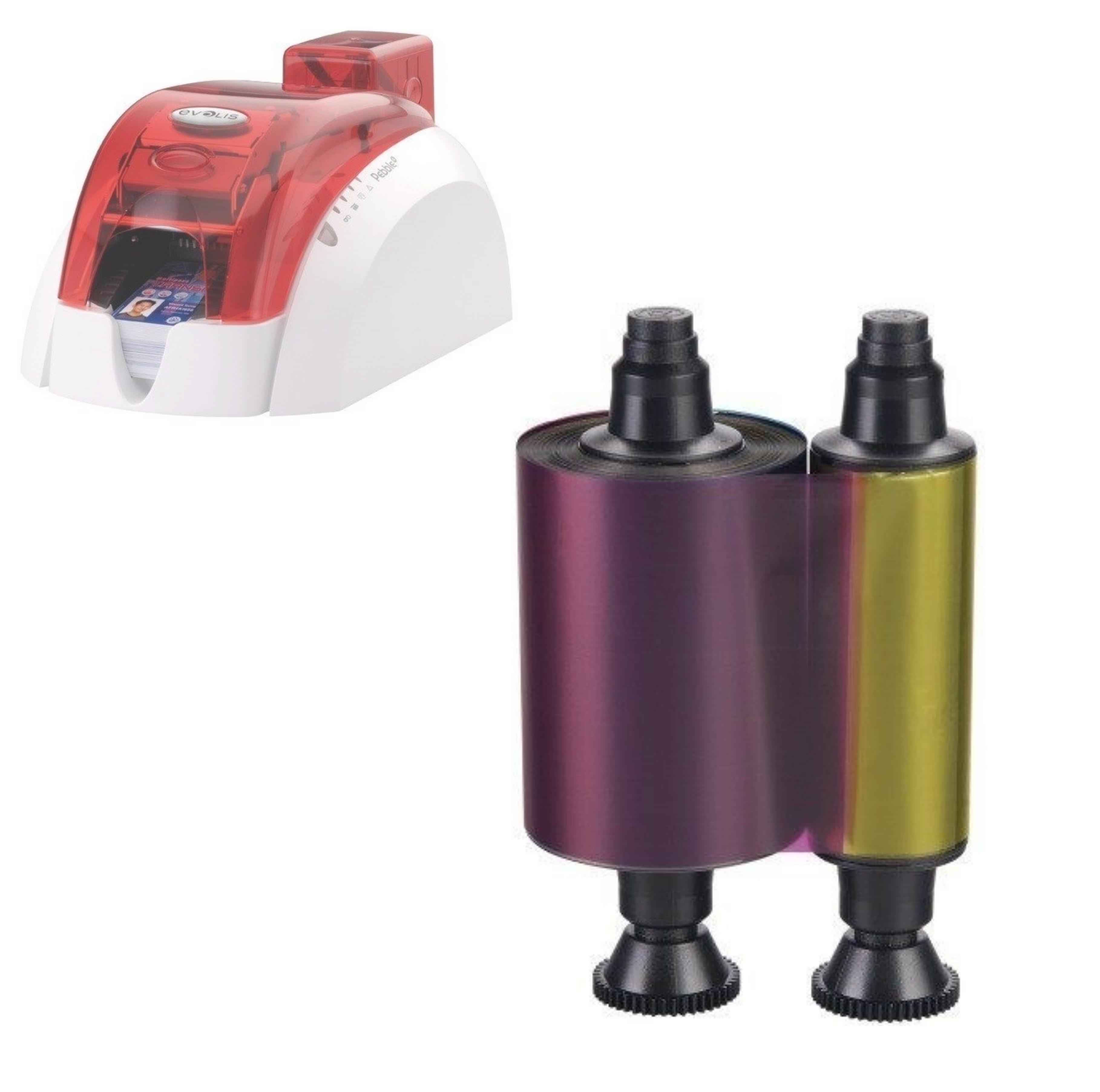 Consommables d'impression pour imprimantes Evolis Pebble4/Dualys3