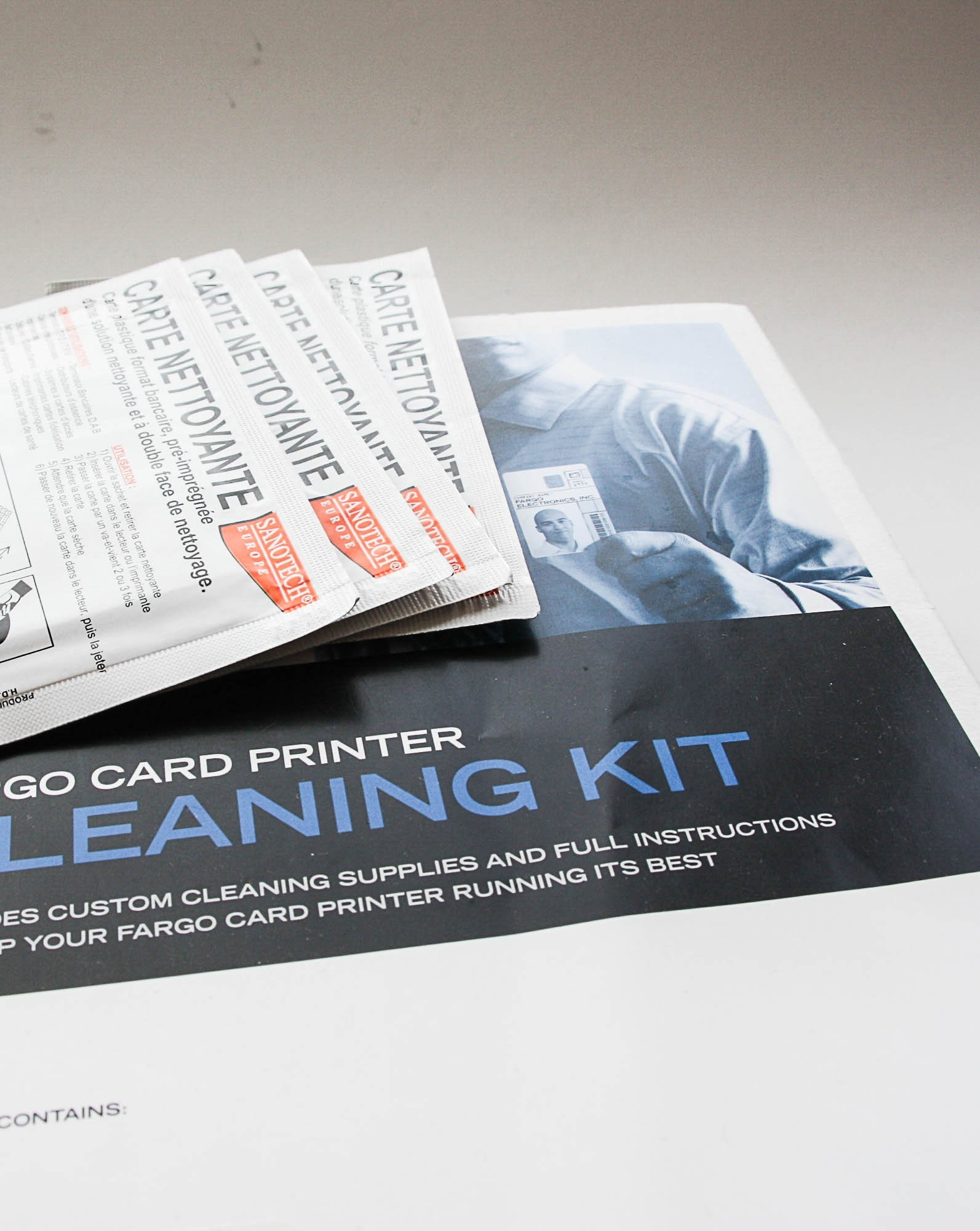 Produits d'entretien et kits de nettoyage pour imprimantes Fargo