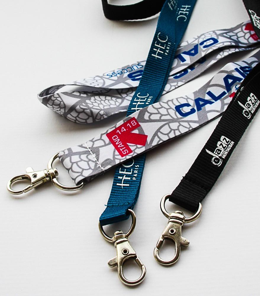 Cordons tour de cou et lanyards personnalisés - Cardalis