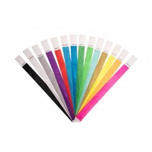 Bracelets en papier indéchirable tyvek, lot de 100 pièces, différents coloris