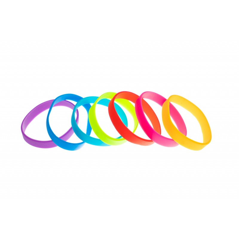 Lot de 100 bracelets Silicone sans marquage, taille adulte